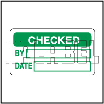 110001 Checked Quality Control Sticker