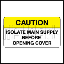 110014 Isolate Main Supply Stickers