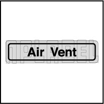 120011BS Air Vent Sticker