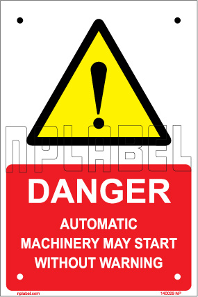 140029 Automatic Machinery Sign Machinery Plates