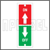 140033ML On-Off Metal Labels