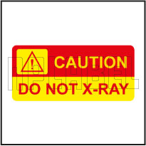 140034 Caution - Do Not X-RAY Labels & Stickers