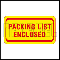140037 Packing List Enclosed Sticker