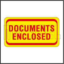 140038 Documents Enclosed Envelop Sticker