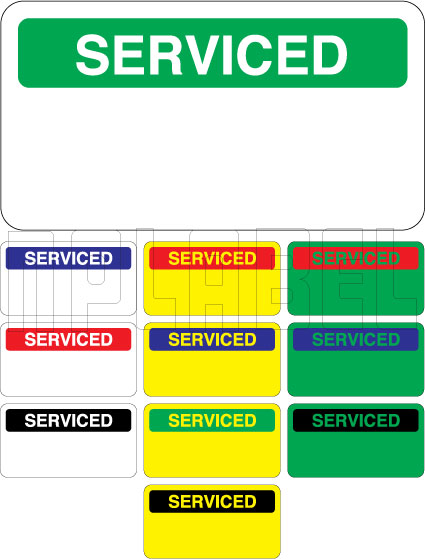 140386 Serviced Stickers & Labels