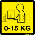 140542 Weighing Capacity Labels 0-15 KG Sticker
