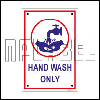 140795 Wash Hands Instructions Name Plates & Signs