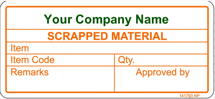 141793 Scrapped Material Sticker