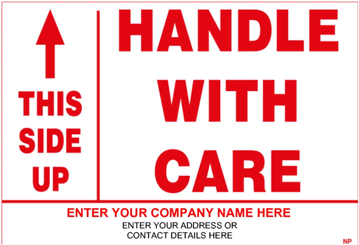 picture relating to Fragile Glass Labels Printable identify Deliver your Personal Shipping and delivery Sticker - 141846 Personalize Regulate With Treatment Sticker