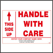 141846 Customize Handle With Care Sticker