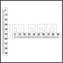 142421 Measuring Scale Sticker 0-90mm