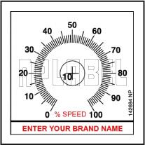 142684ML Customize Potentiometer Metal Label