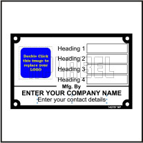 142767 Data Name Plate
