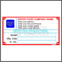 142829 Customize Aluminium Name Plate