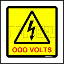 143051 Customize Voltage Sign Label