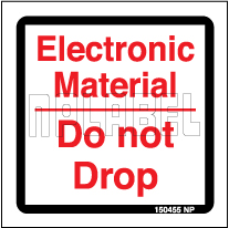 150455 Caution Electronic Do Not Drop Sign Sticker