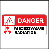 150515 Microwave Radiation Caution Labels Sticker