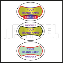 150547 Oval Dome Labels