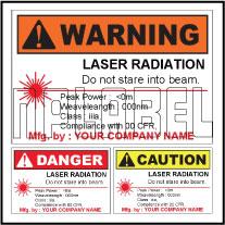 150581 Customize Laser Radiation Labels