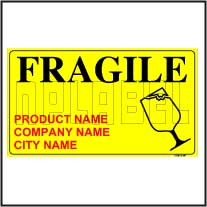 150643 Customize Fragile Sticker