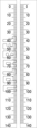 150938_39 Measuring Scale 0-140mm