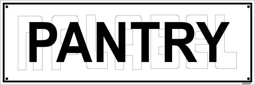151045 Pantry Sign Sticker