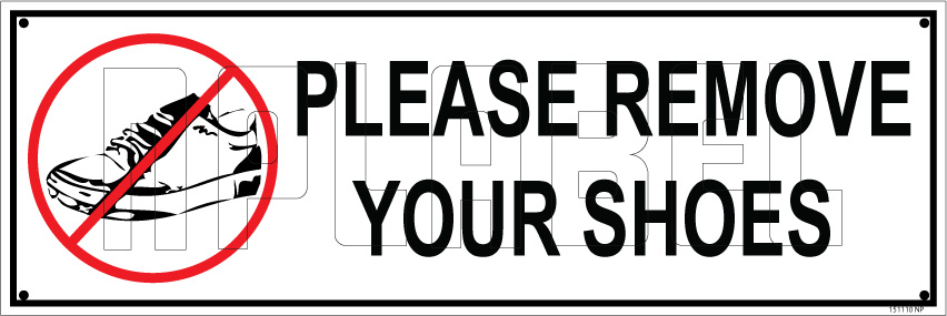 photograph relating to Please Remove Your Shoes Sign Printable identified as Get rid of Your Sneakers Indicator Track record Plates - 151110 Take out Your Footwear Indicator Sticker