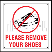 151111ML Remove Your Shoes Sign Name Plate
