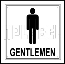 151407 Gentalmen Toilet Sign Name Plate