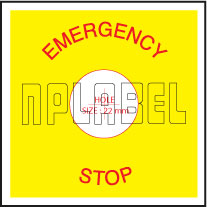 151555 Emergency Stop Labels