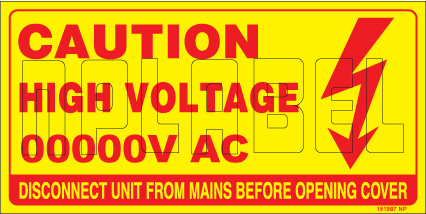 151987 Customize High Voltage Labels