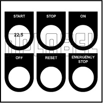 500718 Push Button & LED Labels