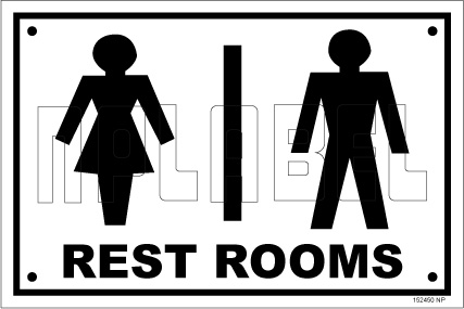 152451 Toilets Sign Name Plates & Signs