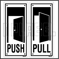 152452V Push/Pull Door Sign Sticker Label