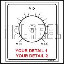 152560 Customize Potentiometer Sticker