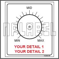 152560ML Customize Potentiometer Label