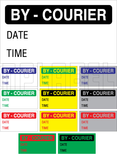 152642 By Courier Sticker
