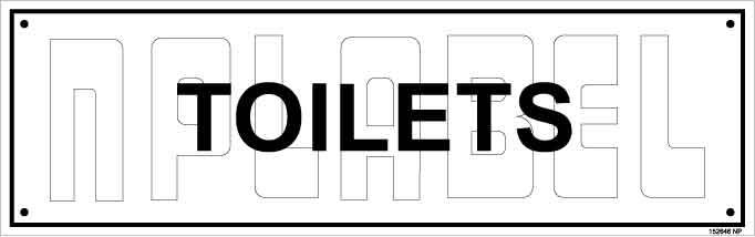 152646 Toilets Name Plates