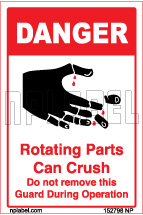 152798 Keep Hands Clear Labels & Sticker