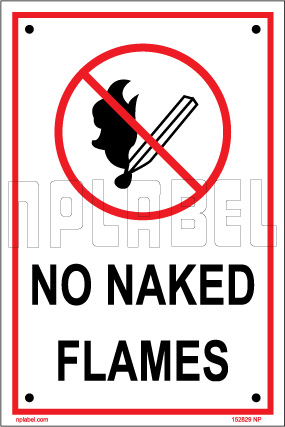 152829 No Naked Flames Name Plates & Signs
