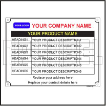 152960 Customize Metal Labels