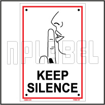 153202 Keep Silence Sign Name Plate