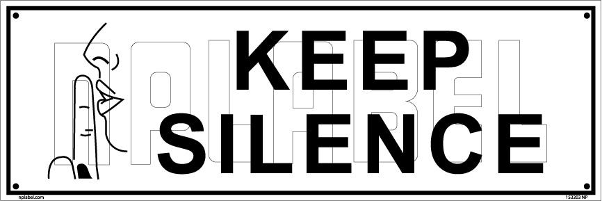 notice please silence sign name plate. Black Bedroom Furniture Sets. Home Design Ideas