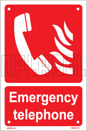 153608 Emergency Telephone Name Plate & Signs