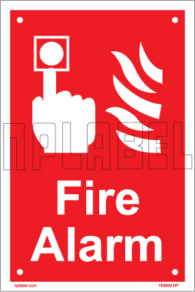 153609 Fire Alarm Sign Name Plates & Signs