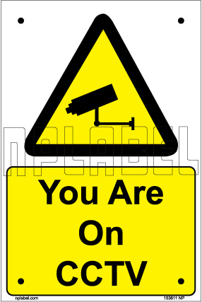 153611 Your are on CCTV Sticker Signs