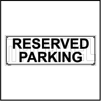 153614 Reserved Parking Name Plate