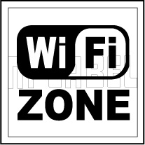 153615 WiFi Sign Label