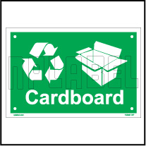 153621 Carboard Waste Dustbin Label