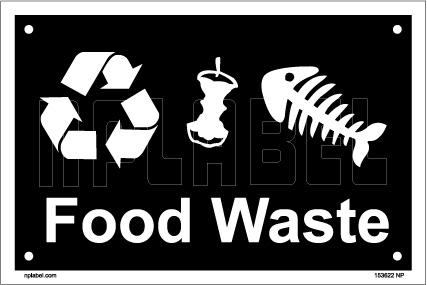 153622 Food Waste Dustbin Label